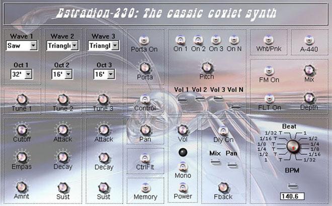 Free VSTi Estradion - classical soviet synth