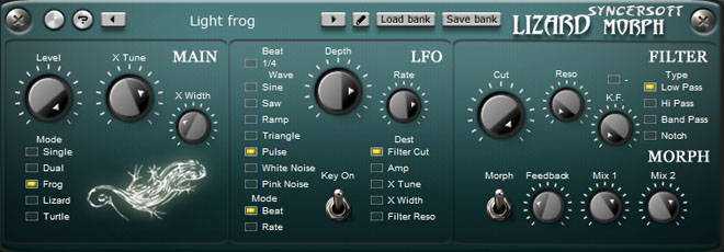 VST plug-in that emulates the detune and morph effect