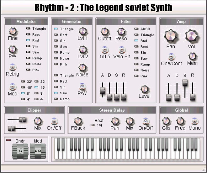 Free VSTi Rhythm - 2 is legend soviet synth.