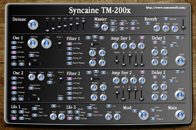 Syncaine TM-200X is Analog Virtual Synth.
