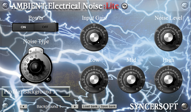 VST plug-in which mix the sounds of the electrical atmosphere. recent Screen Shot